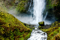 A waterfall in the Columbia River Gorge outside of Portland, Oregon.