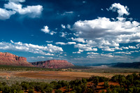 Clouds float above the Paradox Valley in Paradox, CO.
