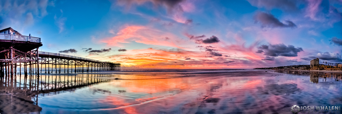 Image ID# Whalen-101107-2110 | Crystal Pier Sunset Panoramic